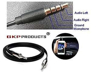 GKP Products ® Premium 3.5mm Aux Audio Cable for Car/Smartphones.