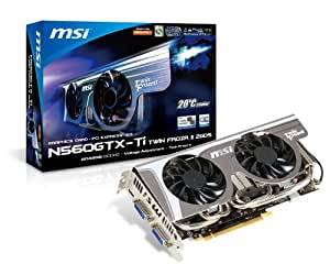 MSI N560GTX-TI TWIN FROZR II 2GD5/OC Carte graphique Nvidia 2 Go GDDR5 4008 MHz Mini HDMI/2 DVI-I