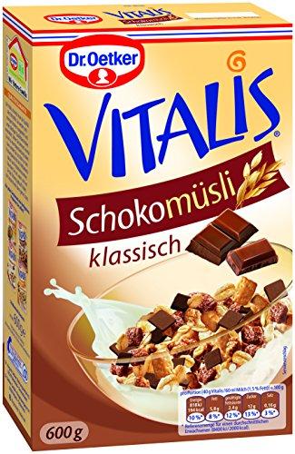 Dr. Oetker Vitalis Schoko Müsli, 7er Pack (7 x 600 g) (Herrliche Haferflocken)