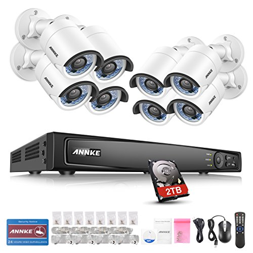ANNKE-Kit-Sistema-de-vigilancia-4MP-8-Cmaras-de-seguridad-Metal-H264-CCTV-NVR-P2P-8-Canales-POE-Camaras-IP66-IR-CUT-Impermeable-InteriorExterior-incluido-2TB-disco-duro-de-vigilancia