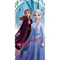 Frozen 2 Official Disney Beach Towel/Fleece Blanket - Elsa & Anna Leaves Design