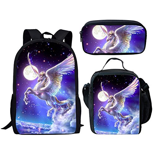 Middle School Student Backpack Lunch Bag Set Pen Case Fashion Durable Large Bags