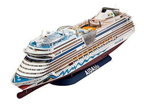 Preisvergleich Produktbild Revell Modellbausatz Schiff 1:400 - Cruiser Ship AIDAblu, AIDAsol, AIDAmar, AIDAstella im Maßstab 1:400, Level 5, originalgetreue Nachbildung mit vielen Details, Kreuzfahrtschiff, 05230