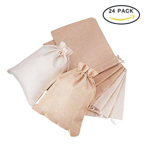 BENECREAT Burlap Bags avec Cordon Cadeau Sacs Pochette pour Bijoux pour Mariage et Bricolage