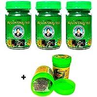 3x 50g Thai phayayor Green Balm Masaje Bálsamo vegetal pura + hong itchykoo Herbal inhaler de thailändischen hierbas y aceites esenciales–Thai Wellness Set