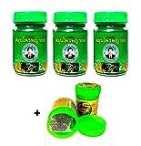 Thai Phayor Green Balm Lot de 3 baumes de massage 50 g de thaïlandaise et huiles essentielles Thai Wellness
