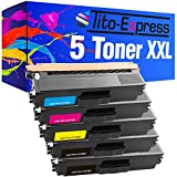 PlatinumSerie® Set 5 Toner XXL für Brother TN-325 Black Cyan Magenta Yellow HL-4140 CN HL-4150 CDN HL-4570 CDW HL-4570 CDWT kompatibel zu Brother
