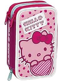 Giochi Preziosi - Hello Kitty Estuche con colores triples, marcadores y accesorios Escuela