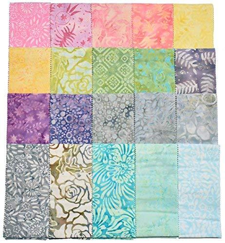 Balibatiks JC6006 Batik-Rollen, 6,3 cm x 111,8 cm, 2 x 20 Farben, 40 Stück (Jelly Roll Stoff Batik)