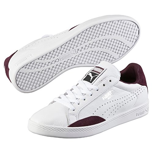 Puma Match Lo Basic Sports, Baskets Basses Femme Blanc (White/Winetasting)