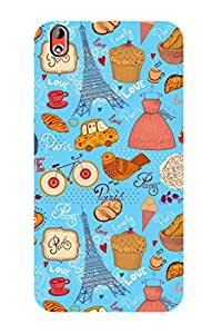 ZAPCASE PRINTED BACK COVER FOR HTC DESIRE 816 - Multicolor
