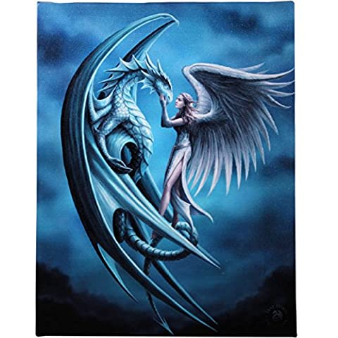 Fantastique Anne Stokes design Silver Back Canvas / Wall Plaque