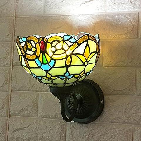 IAGM Wandlampe Wandbeleuchtung Schlafzimmer Nachttisch Wohnzimmer Esszimmer Gang Treppen Balkon Spiegel Scheinwerfer 8 Zoll Europäische Wandleuchte , B
