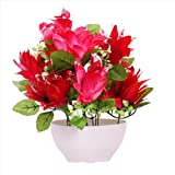 #6: JaipurCrafts Premium New Arrival Forever Collection Artificial Flowers with Pot