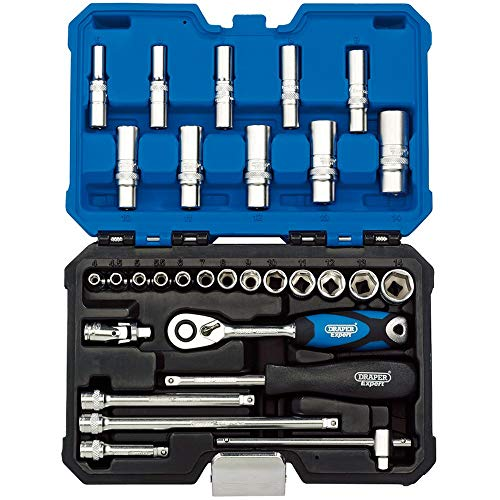 DRAPER b30mn/SG 1/10,2cm SQ. DR. metrisch Socket Set (30Stück), blau