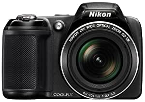 Nikon Coolpix A10 Point and Shoot Digital Camera (Red) with 8GB Memory Card and Camera Case Free