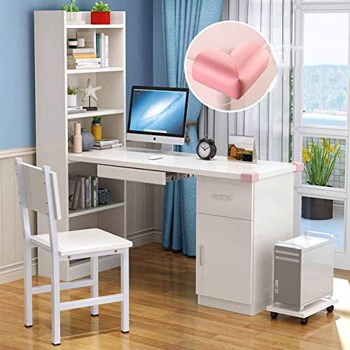 YQ WHJB Computertisch Mit Tastaturunterlage,Holz Computer Schreibtisch Mit Schubladen, Home Multifunktöne Workstation Mit Hutch Und Bücherregal-n 140x50cm(55x20inch) (Für Home-office Hutch Schreibtisch Mit)