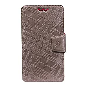 Jo Jo Cover Krish Series Leather Pouch Flip Case With Silicon Holder ForMicrosoft Lumia 940 Light Pink