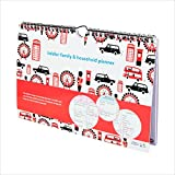 tiddler family & household planner | Weekly Family Organiser / Planner Calendar | Clever Layout in A4 Size | Space For 6 People & 1 Years Planning | Packed With Useful Features (London Design)