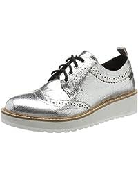Duffy - Zapatos de vestir de Lona para mujer, color negro, talla 38 EU