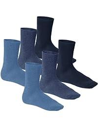 Footstar - Komfort Premium Frottee Socken - Frotteesohle schwarz jeans blau 3er Pack 6er Pack bzw 9er Pack