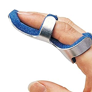 Solace Care Advance Ultra Comfort Toad Finger Splint - Stabilize Mallet Finger Frog - Aluminium Foam Splint - DIP Pain Support Fracture - Malleable Joint Support Brace - Interphalangeal Joint Pain (UNISEX) (MEDIUM)