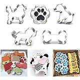 IDEA HIGH 5 estilos de hueso de animal para perro, molde cortador de galletas 3D