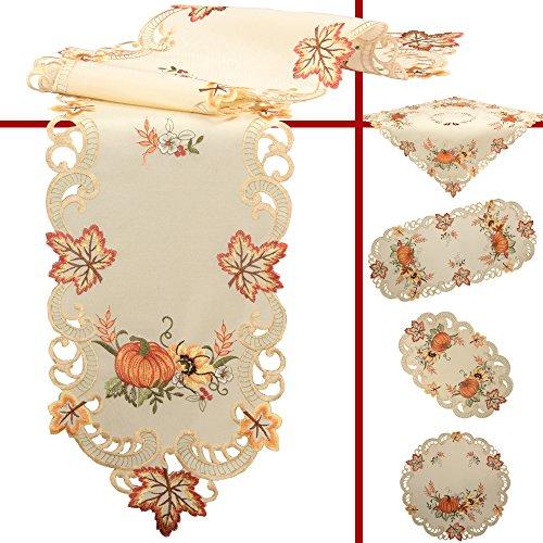 nd Sonnenblume Stickerei Mitteldecke 85 x 85 cm Polyester, Creme ()