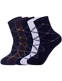 Cimary 5 Pares de Calcetines Para hombre-Ideales para invierno,tamaño EU 40-