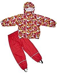 Elka Regenanzug Regenhose + Regenjacke für Kinder, gestreift und einfärbig Farben viele Größen 220g/Polyester gr 110