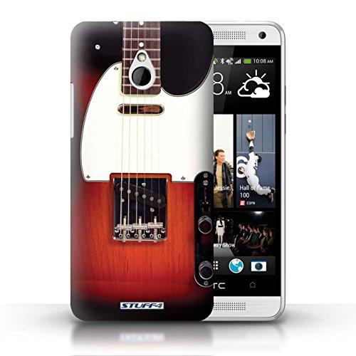 Kobalt® Imprimé Etui / Coque pour HTC One/1 Mini / Acoustique en Bois conception / Série Guitare Sunburst Electrique