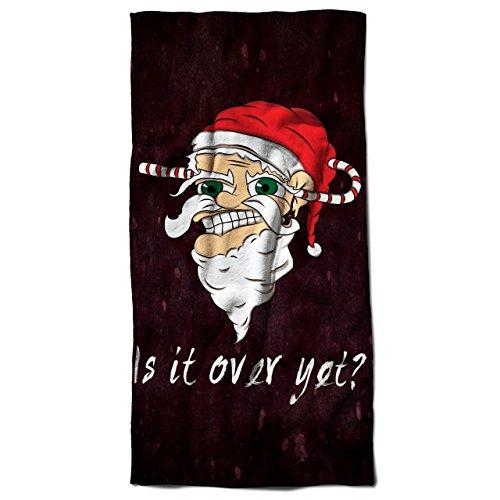 Zu Ende noch Weihnachtsmann Weihnachten Böse Weihnachtsmann 30cm x 60cm Badetuch   (Ideen Und Böse Kostüme Gut)