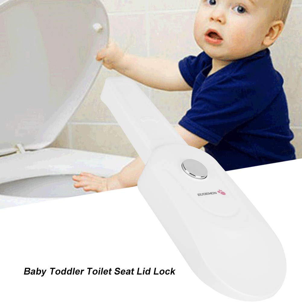 Baby Toilet Seat Lid Lock Home Bathroom Safety Guard Child Proof Prevent Child Opening Bathroom Accessories Strong Adhesive No Drilling or Tools
