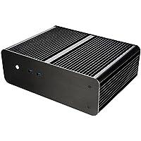 Akasa A-ITX25-M1B Small Footprint Solid Aluminium Fanless Case for Mini-ITX Motherboards - Black preiswert