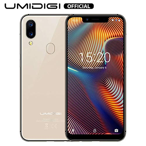 UMIDIGI A3 Pro Smartphone ohne Vertrag günstig 5.7 Zoll Notch Bildschirm, Android 9, 5G WiFi Handy 3GB+32GB ROM(256GB erweiterbar), Benachrichtigung LED, Global Version, Dual SIM, 12MP+5M Kamera-Gold