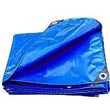 DGF Wasserdichte LKW-Markise-Zelt-Verdickungs-imprägnierndes Tuch im Freien Anti-Altern, Blau, 450g/M quadriert, Verschiedene Größen Sind verfügbar (Farbe : Blau, Größe : 2x1.5m)