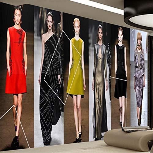 Wallpaper 3D werbungFashion Trend T Station Laufsteg Modell Bekleidungsgeschäft Leuchte Wand benutzerdefinierte großes Wandbild Wallpaper BildFototapete 3d effekt