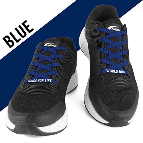 FLEXILACES - elastische Schnürsenkel   nie Wieder Schuhbänder binden - Nacht-Blau (Wings for Life - Spendenedition)