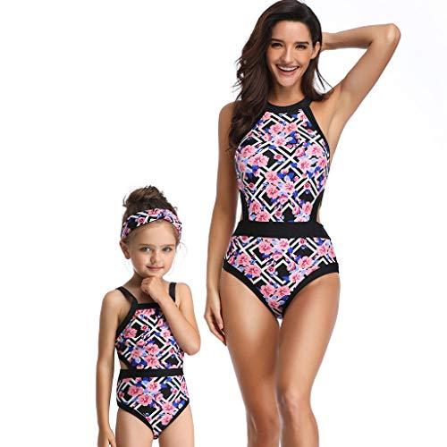 Riou Badeanzug Damen Mädchen Große Größen Bauchweg Push Up Sexy Bikini Set Rückenfrei Bandeau Bademode Für Sommer Beach Sport Schwimmanzug Beachwear (Mädchen Große Für Badeanzug)