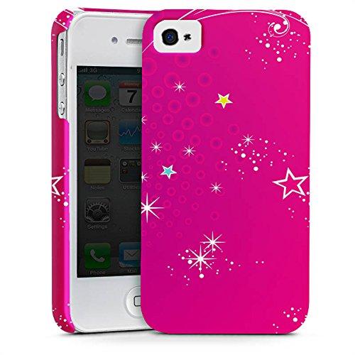 Apple iPhone X Silikon Hülle Case Schutzhülle Pink Sterne Himmel Premium Case glänzend