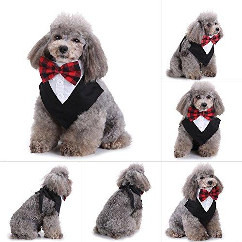 Hund Katze Fliege Pet Krawatte Halsband Bandana Fliege Kabelbinder Speichel Handtücher Halstuch verspielt Stil Kleidung - Pet-kleidung Bandana