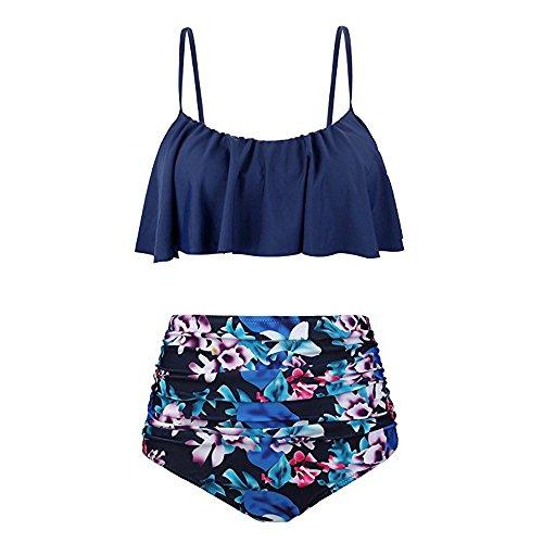 CICIYONER Damen Bikini Set Frauen hohe Taille Bikinis Bademode Badeanzug weibliche Retro Beachwear