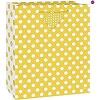 Ay&Bk Large Yellow Polka Dot Gift Bag