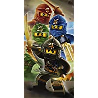 Lego Ninjago Quadrant Warriors Cotton Beach Bath Towel