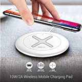 Portronics POR-897 Toucharge X 10W/2A Wireless Mobile Charging Pad (White)