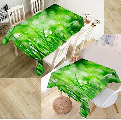JHSH Tischdecke Tischdecke Polyester Rechteckig 3D Gras Outdoor Gartentisch Decken Sie EIN Stück130x220cm