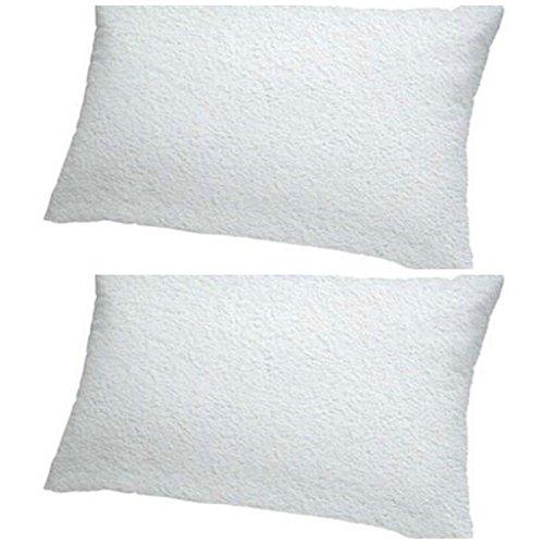 Victoria bedding confezione da 2federe per cuscino con zip–liquid resistant-100% impermeabile antiacaro–lavabile in lavatrice–antiallergico, antibatterico di, white, 50 x 90 cm