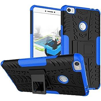 TARKAN Hard Armor Hybrid Rubber Bumper Kick Stand Back Case Cover For Xiaomi Mi Max [Blue]