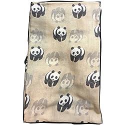 CambridgeStyle Bufanda de Panda agazapada - Esquema de Panda Sobre Estos Bufanda Encantadora