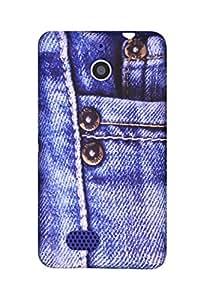 Rich Boss Denim Cover for Sony Xperia E1/E1 Dual